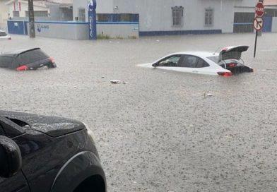 João Pessoa teve mais de 280 mm de chuva em 72 horas e previsão é de mais precipitações nesta segunda-feira