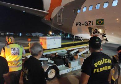 Paraíba recebe mais de 110 mil doses de vacina contra Covid-19 nesta sexta-feira
