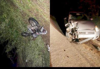 Colisão entre carro e moto deixa um morto e outro ferido no Sertão